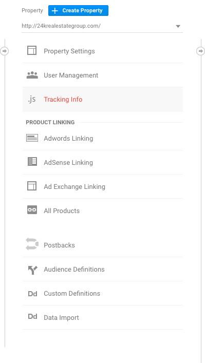 google analytics for real estate websites